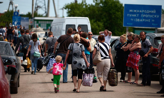 Беженцы из Украины, прибывшие в Россию
